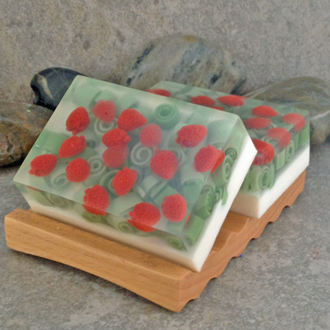 Fresh Picked Strawberry Shea Butter Glycerin Soap