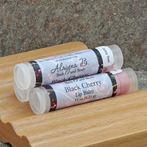 Black Cherry Flavored Lip Balm