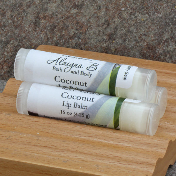 Coconut Flavored Lip Balm with Shea Butter