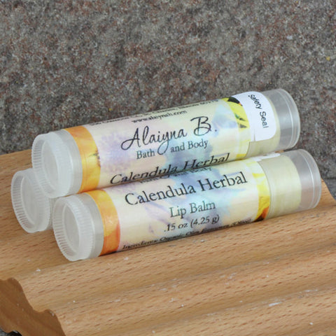 Calendula Herbal Lip Balm with Shea and Mango Butter - Unflavored