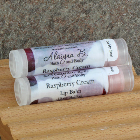 Raspberry Cream Flavored Lip Balm with Cocoa Butter