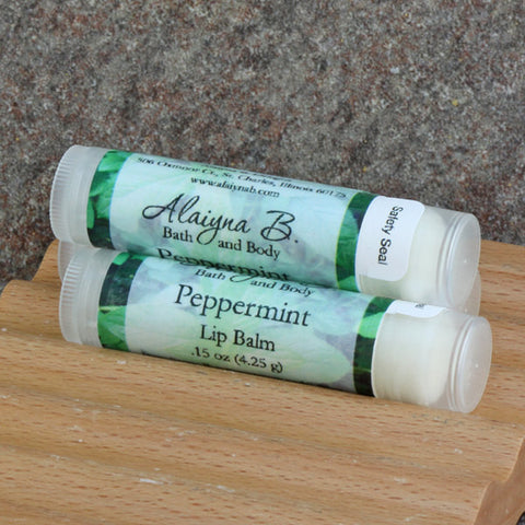 Peppermint Lip Balm with Babassu Oil, Mango and Cocoa Butters