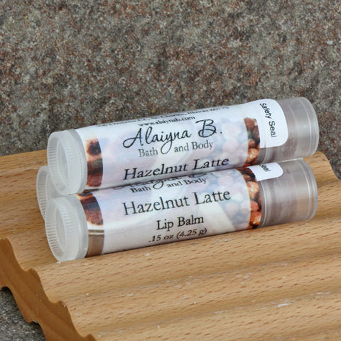 Hazelnut Latte Lip Balm with Moisturizing Shea and Cocoa Butters