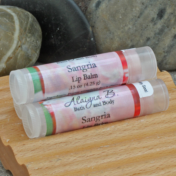 Red Wine Sangria Lip Balm with Moisturizing Shea and Cocoa Butters