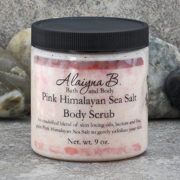 Pink Himalayan Sea Salt Body Scrub in a Garden Spa Scent - 9 oz