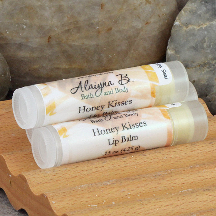 Honey Kisses Flavored Lip Balm with Moisturizing Shea and Mango Butters