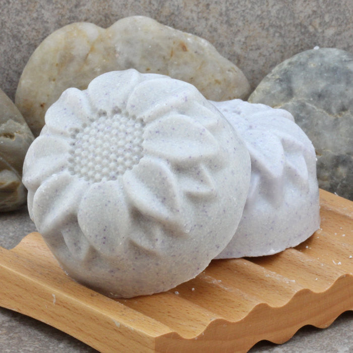 Goat's Milk and Lavender Sea Salt Soap Bar with Shea Buitter