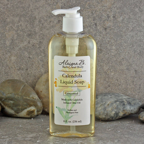 Gentle Calendula Infused Olive Oil Liquid Soap - 8 ounces