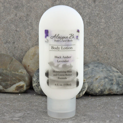 Amber, Vanilla and Lavender Scented Body Lotion - 4 oz