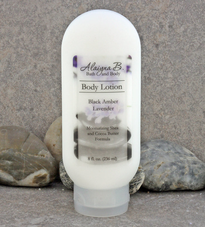 Amber, Vanilla and Lavender Scented Body Lotion - 8 oz