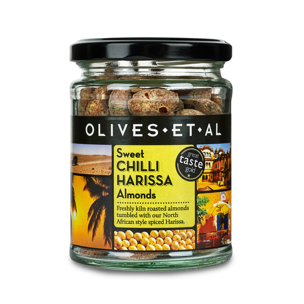 Sweet Chilli Harissa Almonds – Jar 150g