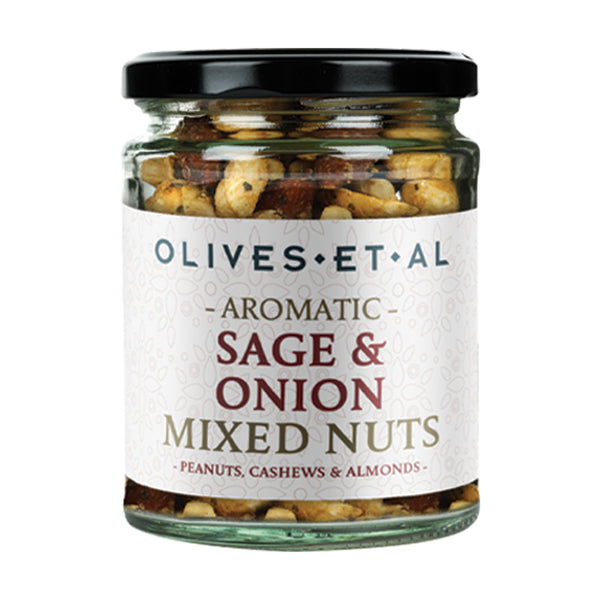 Aromatic Sage & Onion Mixed Nuts – Jar 150g