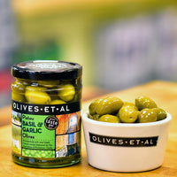 Pistou Basil & Garlic Olives – Jar 250g