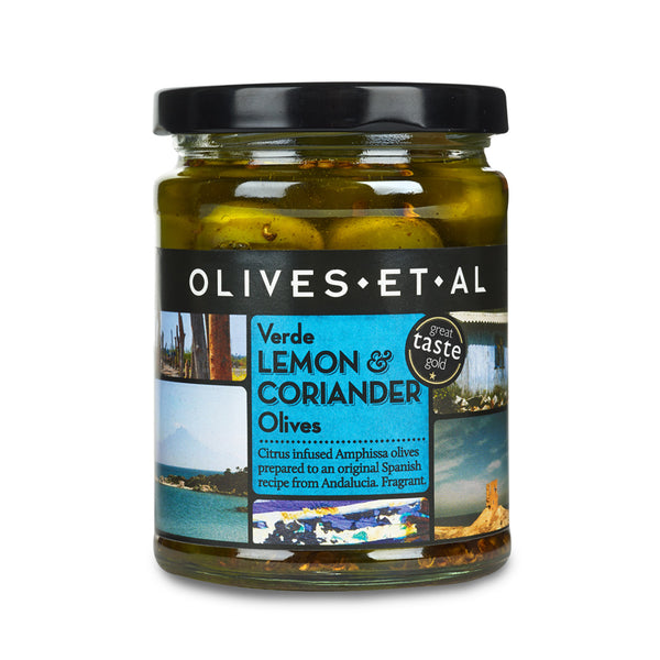 Verde Lemon & Coriander Olives – Jar 250g