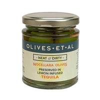 Neat & Dirty Olives – Preserved in Lemon Infused Tequila- Jar 165g