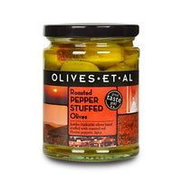 Red Pepper Stuffed Olives – Jar 150g