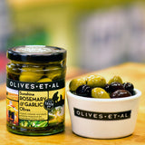 Sunshine Rosemary & Garlic Olives – Jar 250g