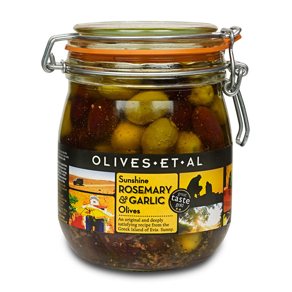 Sunshine Rosemary & Garlic Olives – Kilner Jar 800g