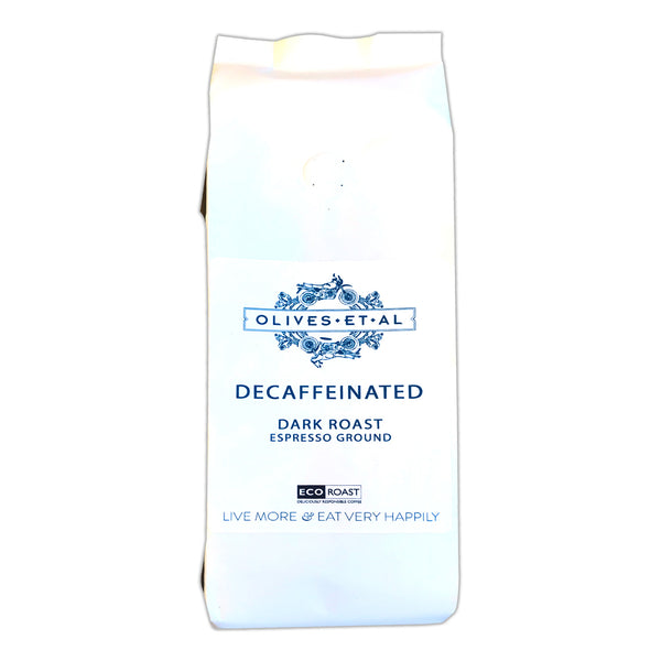 Coffee Olives Et Al - Decaffeinated Dark Roast Ground Coffee - Bag 250g