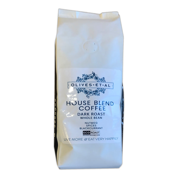 Coffee Olives Et Al - House Blend Dark Roast Whole Bean Coffee - Large Bag 1kg