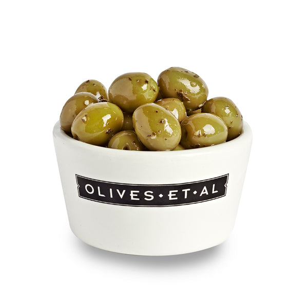 Boxed Olives - Pitted Basil and Garlic - 2.5kg