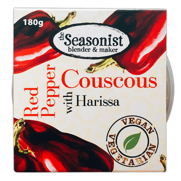 The Seasonist - Red Pepper Couscous With Harissa - Pot 180g