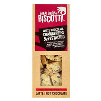 Great British Biscotti - White Chocolate, Cranberries & Pistachio - 100g Box