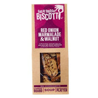 Great British Biscotti - Red Onion Marmalade & Walnut - 100g Box