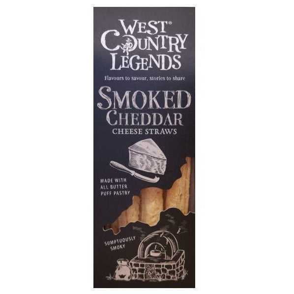 West Country Legends - Smoked Cheddar Straws - Pack 100g