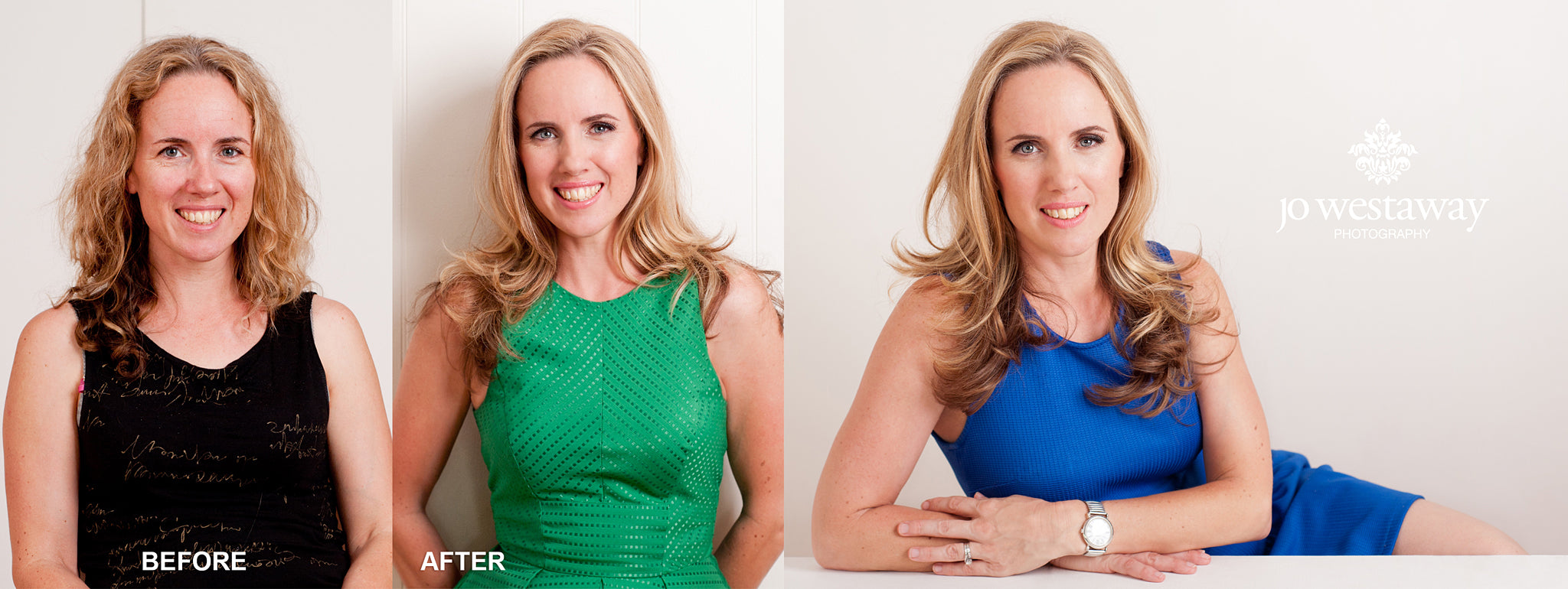 Before and after photography session - non business headshots and personal brand shots