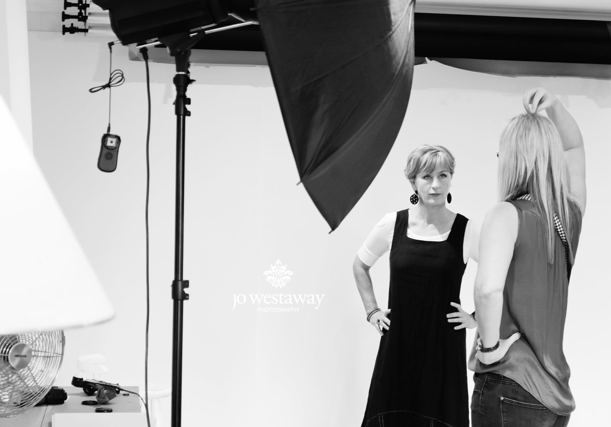 Behind the scenes - personal branding photography session for business women