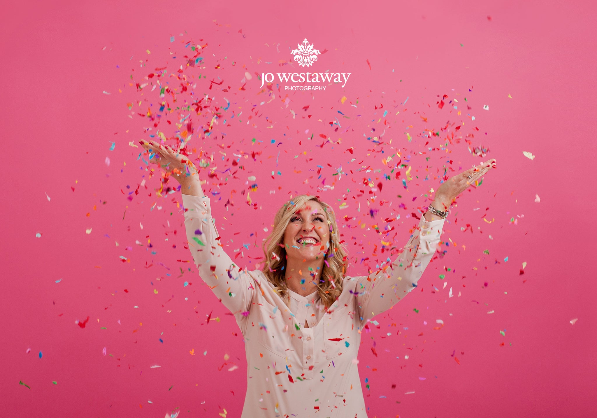 The non-business headshots and personal brand images - confetti and fun -