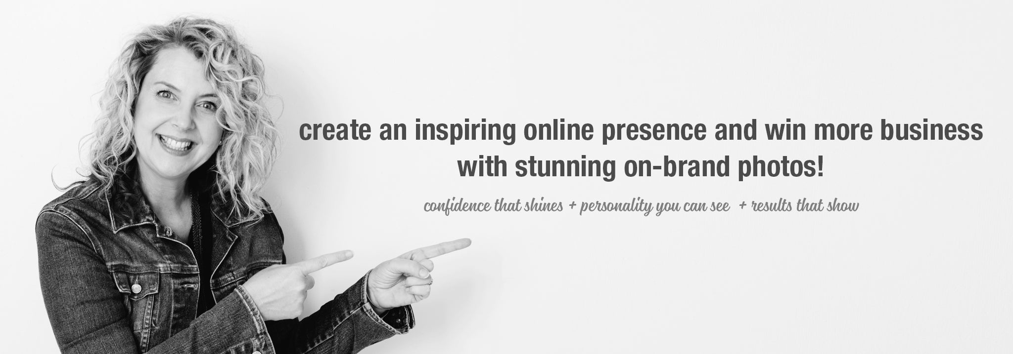 Create an amazing online presence with personal brand photos, content social media shots and website images