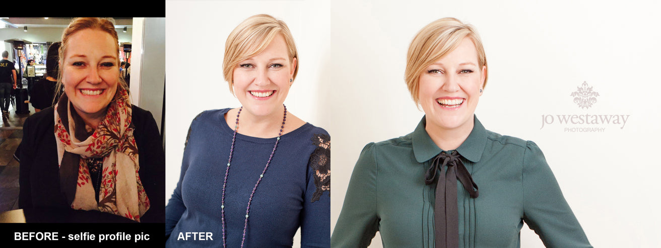Before and after professional personal brand photos and modern headshot images - Brisbane's leading branding photographer
