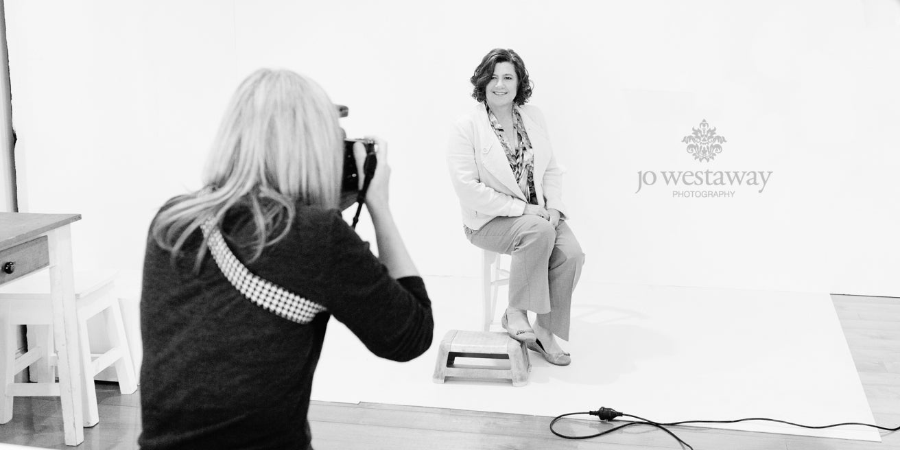 In the studio with interstate clients - personal brand Brisbane