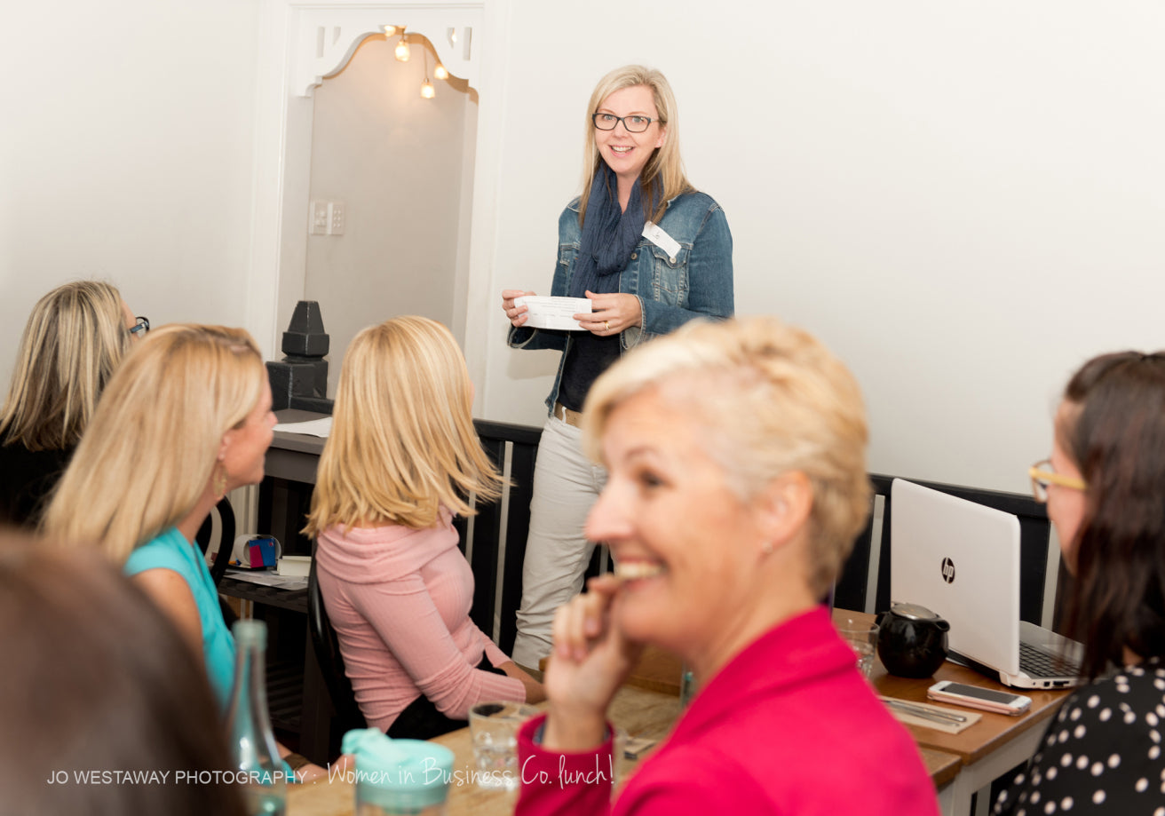 Hosting WIBCo business networking event - Jo Westaway on brand photography