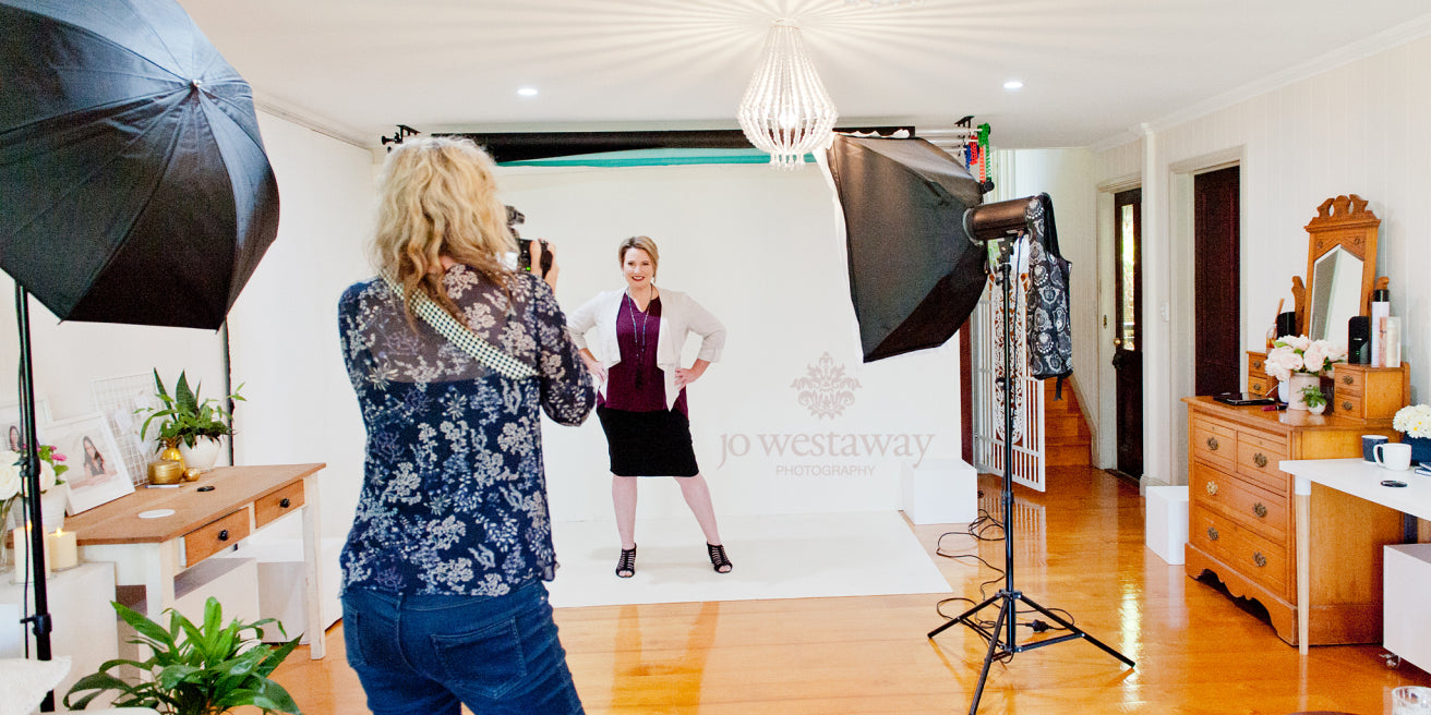 In the studio with Jo Westaway Photography - Brisbane's leading brand and headshot photographer