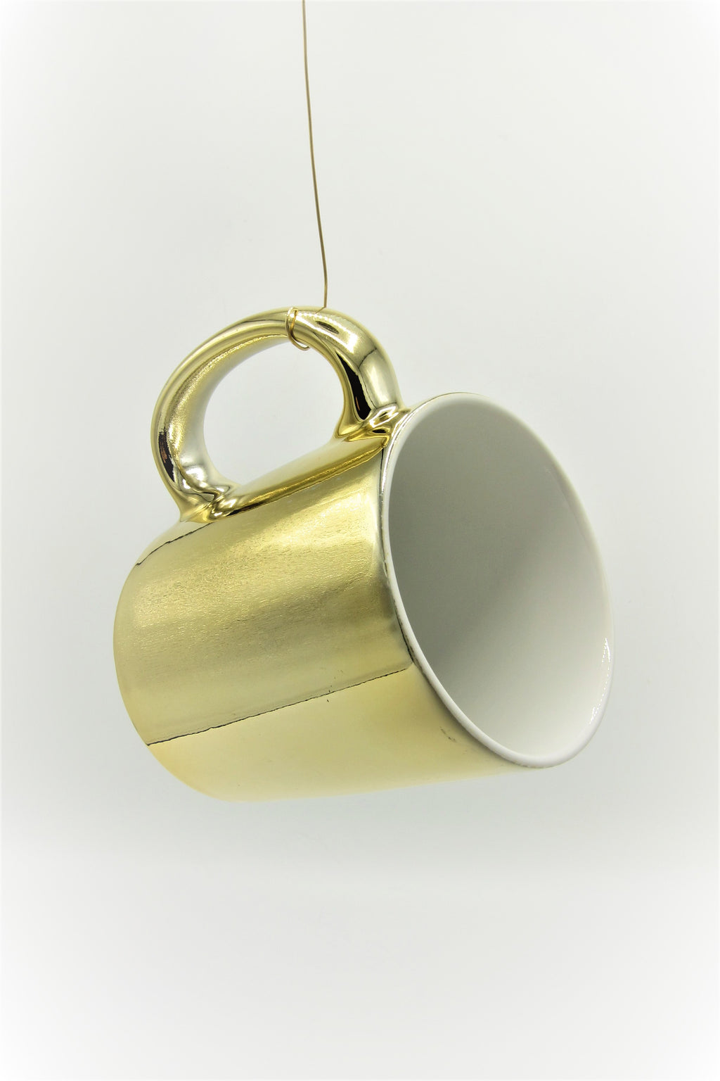 Vintage 22K Gold-Plated Ceramic Mug