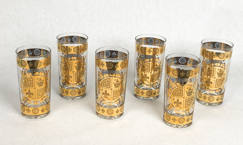 Vintage Hollywood Regency Gold-Plated Tumblers