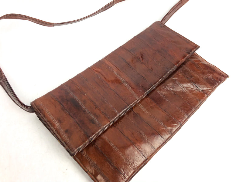Vintage brown eel skin purse