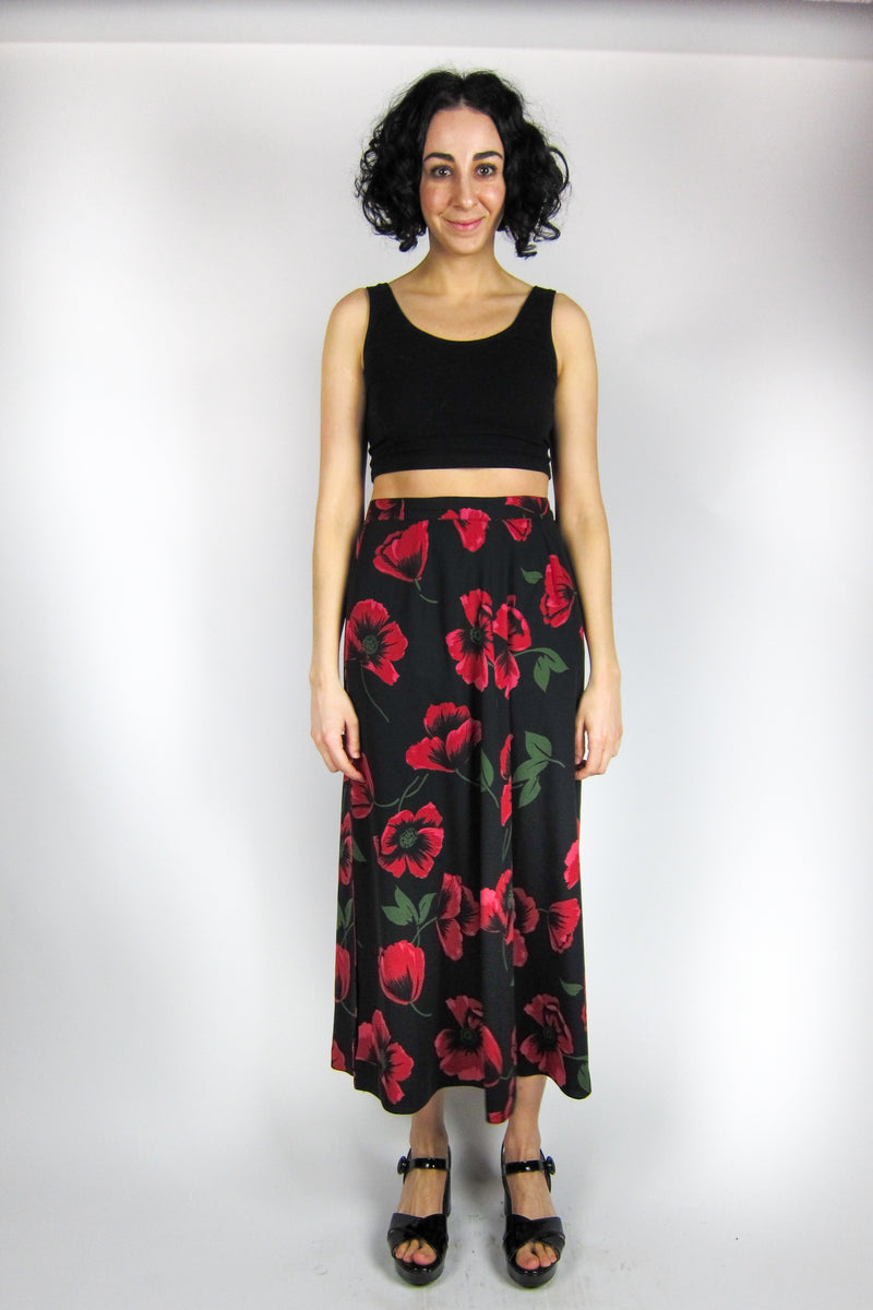 Vintage Dark Rose Skirt