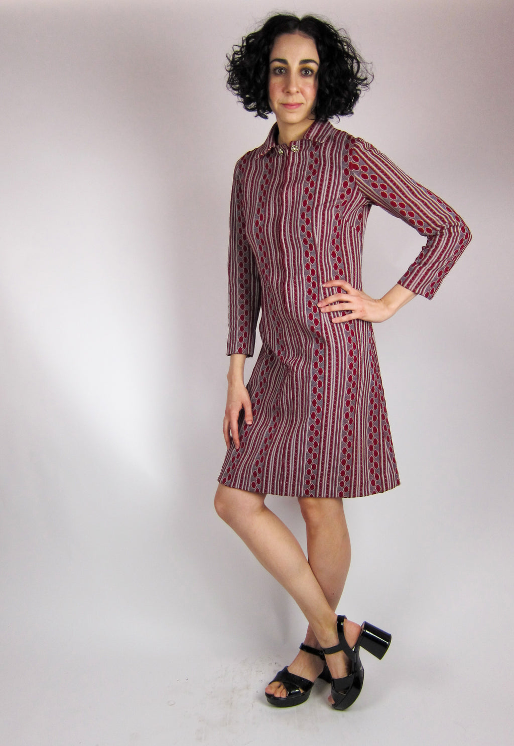 Vintage Geometric Mini Dress
