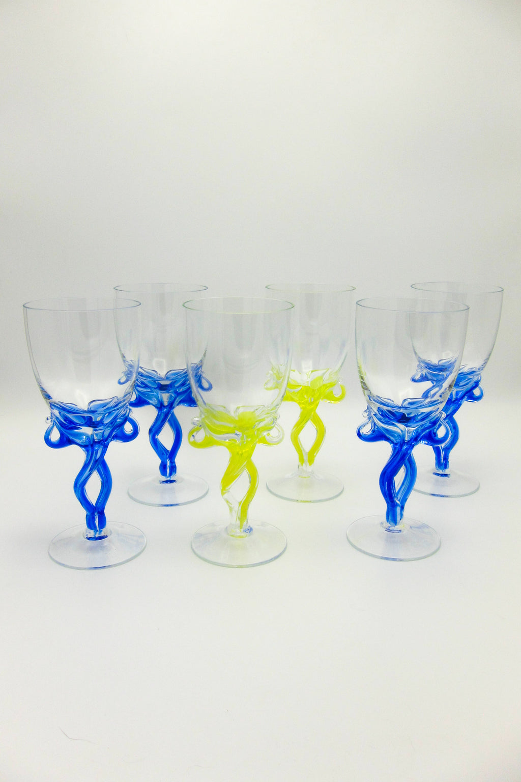 Jozefina Krosno wine glasses art glass