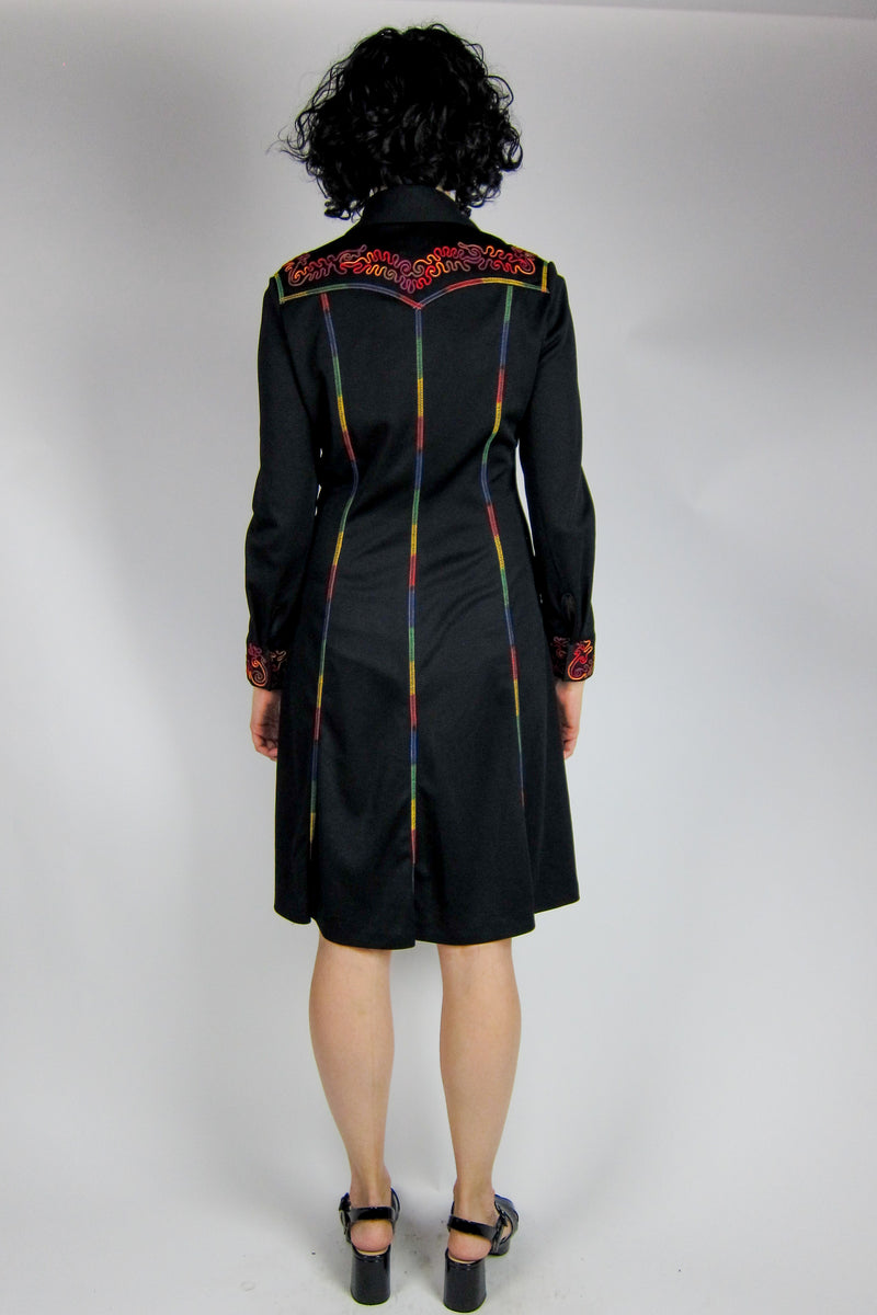 Vintage Clovis Ruffin Dress