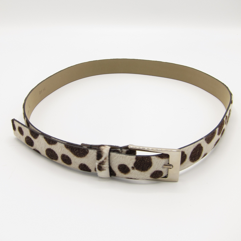 vintage fur animal print belt