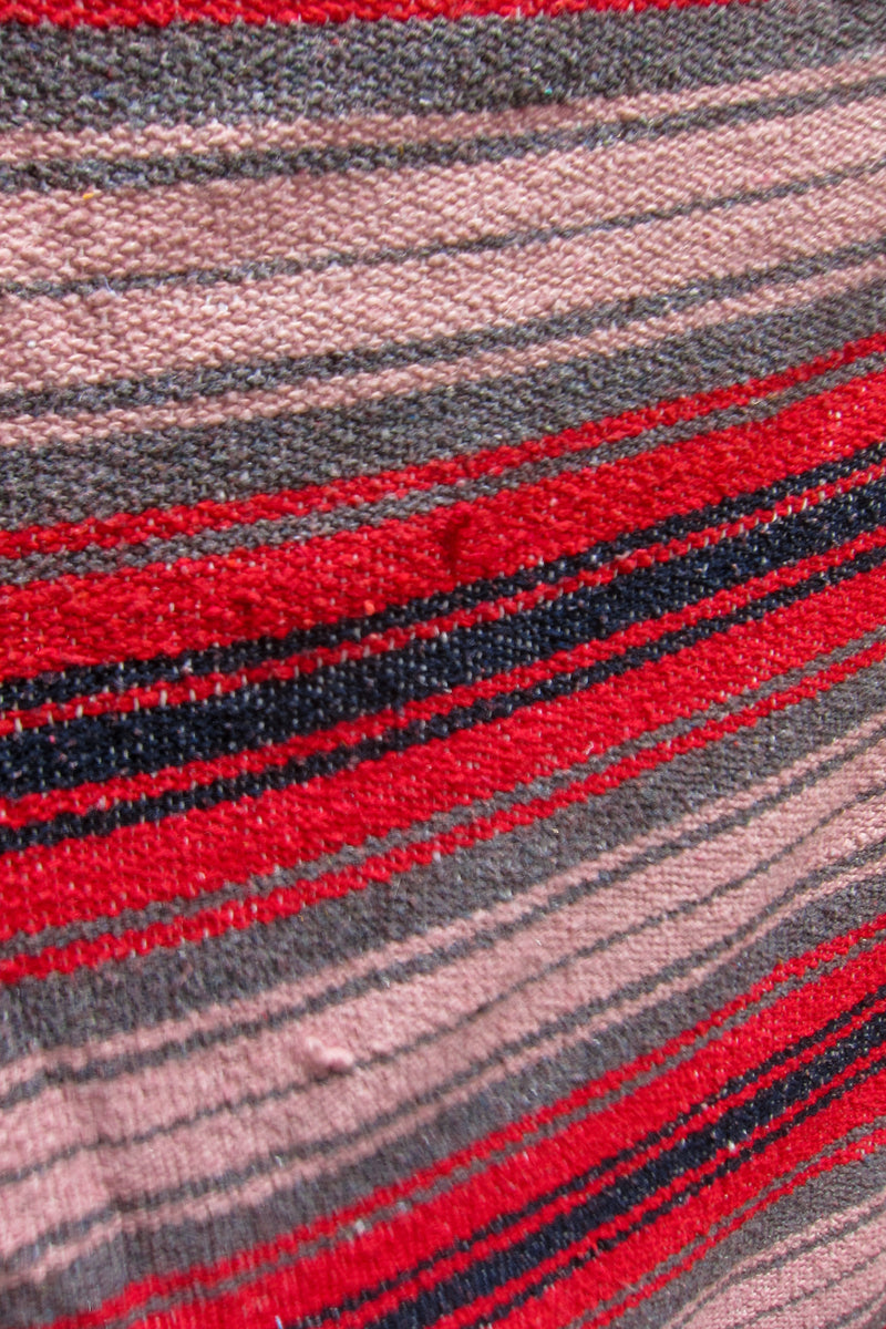 Vintage Red Pink Mexican Blanket