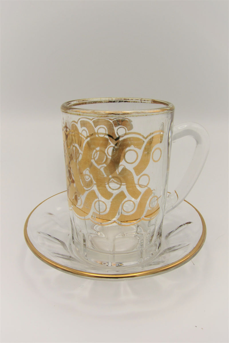 Vintage Gold-Plated Demitasse Cups
