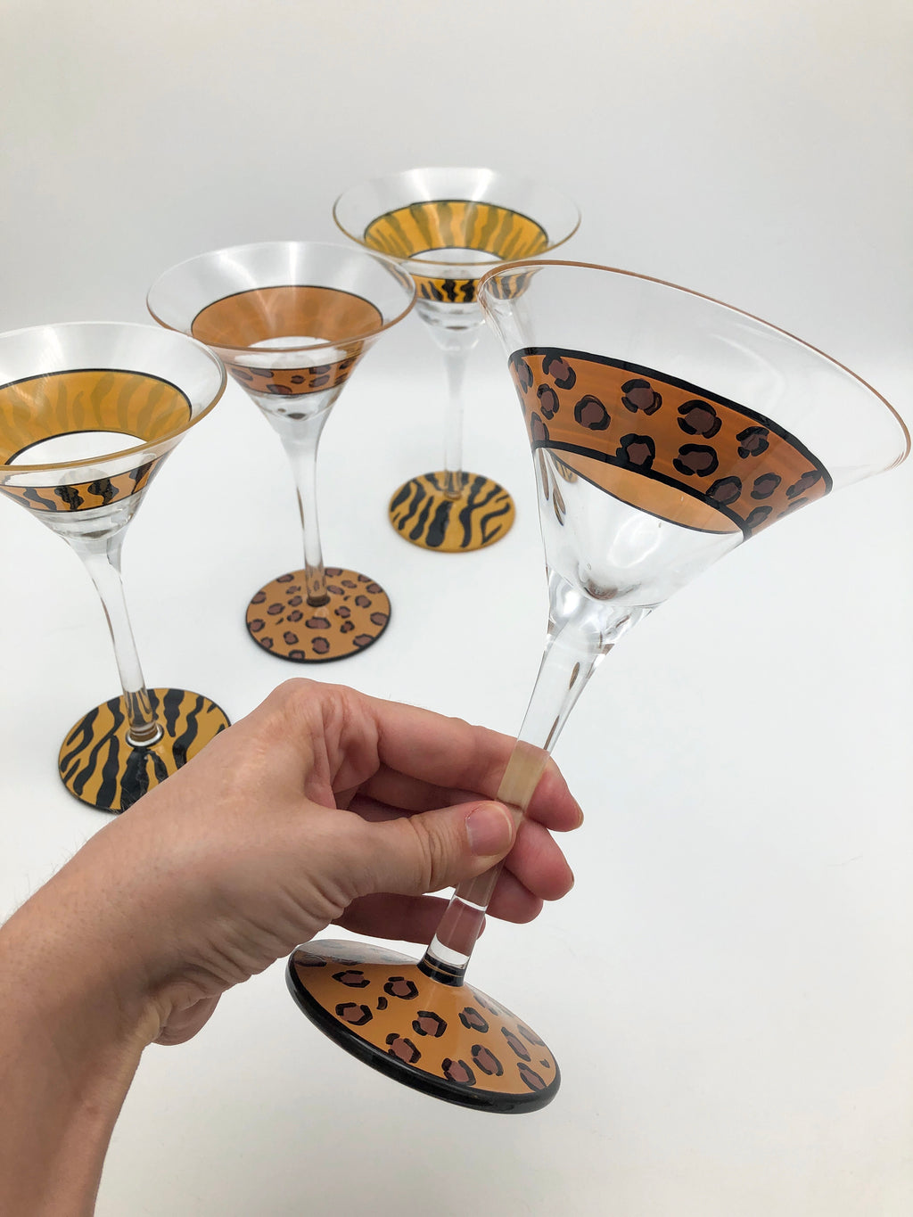 Animal Print Martini Glasses