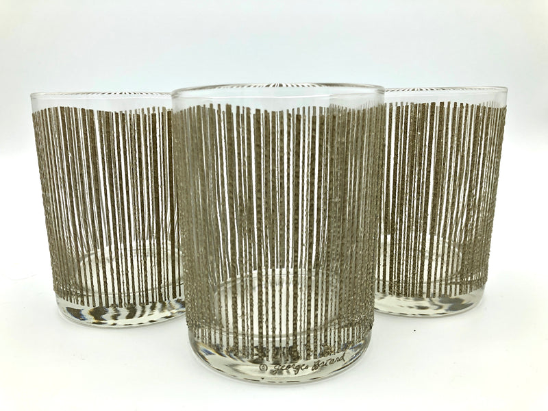 Vintage Georges Briard Textured Rocks Glasses 6pc