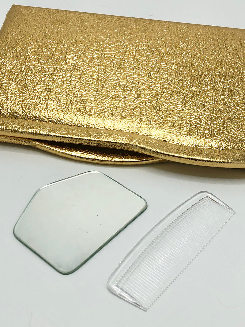 Vintage Gold Metallic Clutch
